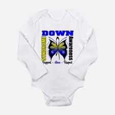 Down Syndrome Butterfl Long Sleeve Infant Bodysuit