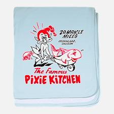 Pixie Kitchen Fish in Wheelbarrow baby blanket