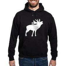 White Elk Silhouette Hoody