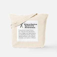 Ehlers-Danlos Syndrome Awareness Symptoms Tote Bag