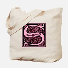 Pink Fleur2 Monogram S Tote Bag