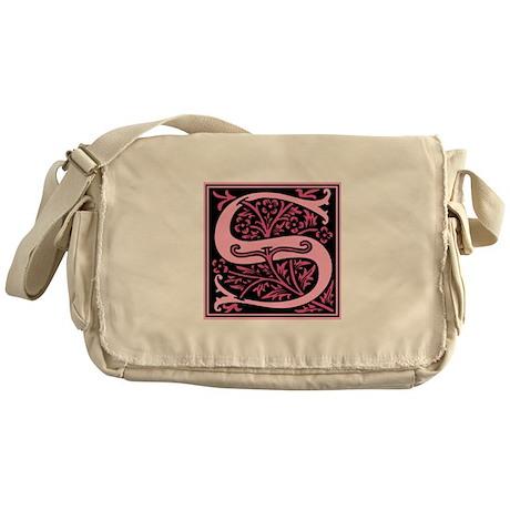 Pink Fleur2 Monogram S Messenger Bag