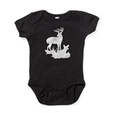 White Buck And Fawn Baby Bodysuit