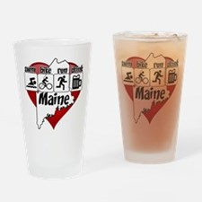 Maine Swim Bike Run Drink Drinking Glass