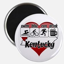 Kentucky Swim Bike Run Drink Magnet