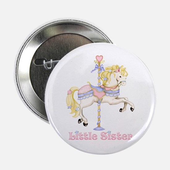 """Carousel Pony Little Sister 2.25"""" Button (10 pack)"""