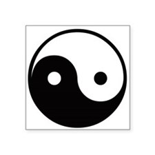 Yin and Yang Rectangle Sticker