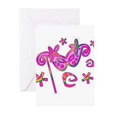 Colorful Theatre Mask Greeting Card