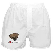I Heart My Puggle Boxer Shorts