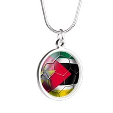 Mozambique Football Silver Round Necklace