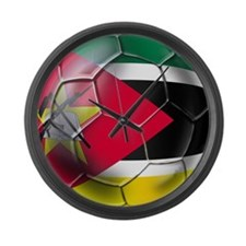 Mozambique Football Large Wall Clock