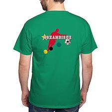 Mozambique Football Player T-Shirt