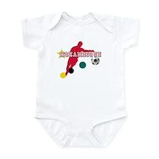 Mozambique Football Player Infant Bodysuit