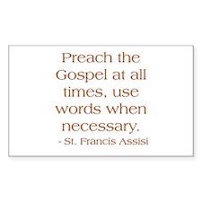 Preach The Gospel - St. Decal