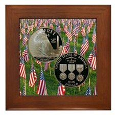 Vietnam Veterans Memorial Dollar Framed Tile