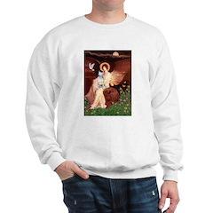 SeatedAngel-BullTerrier (P) Sweatshirt