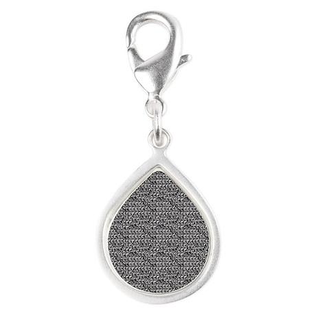 Chainmail Links Silver Teardrop Charm