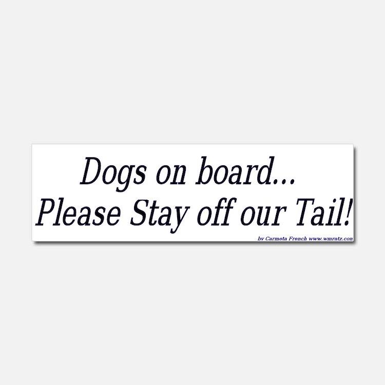 Cute Dogs Car Magnet 10 x 3