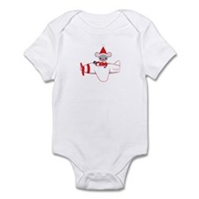 Flying Fun Santa Mouse Infant Bodysuit