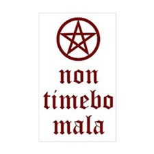 Non Timebo Mala Rectangle Decal