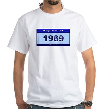 1969 Woodstock White White T-Shirt