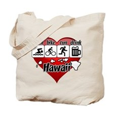 Hawaii Swim Bike Run Drink Tote Bag