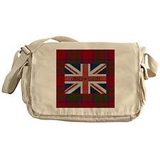 Obsessenach - Red Plaid border Messenger Bag