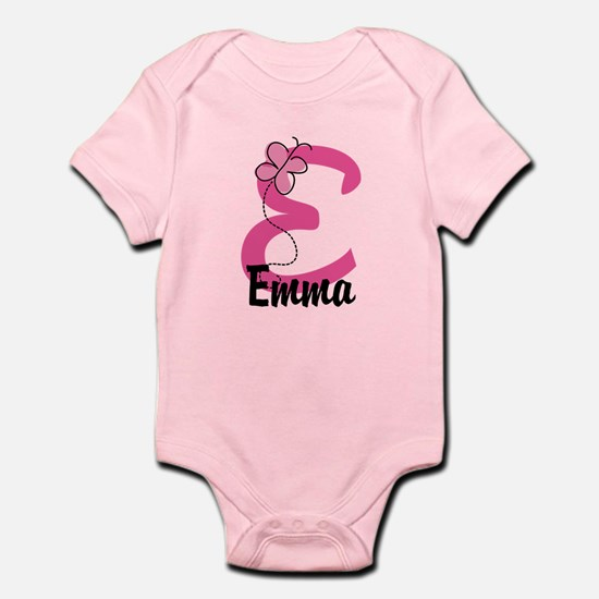Personalized Monogram Letter E Infant Bodysuit