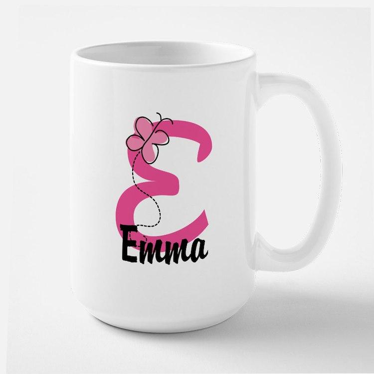 Personalized Monogram Letter E Large Mug