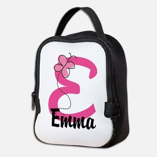 Personalized Monogram Letter E Neoprene Lunch Bag