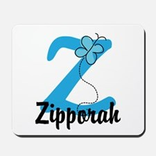 Personalized Initial Z Monogram Mousepad