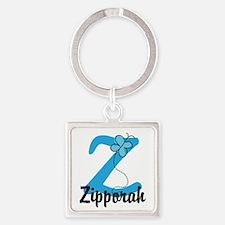 Personalized Initial Z Monogram Square Keychain