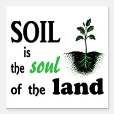 """Soul of the Land Square Car Magnet 3"""" x 3"""""""
