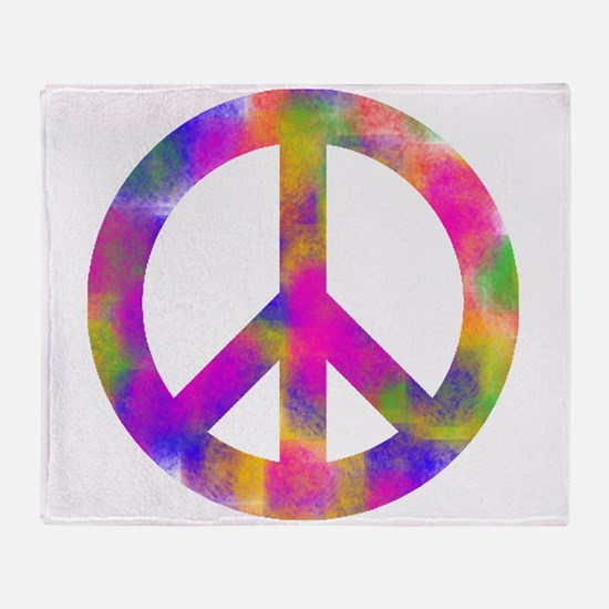 Unique Peace Throw Blanket