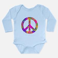 Cute Peace sign Long Sleeve Infant Bodysuit