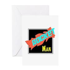 Rocket Man/Elton john Greeting Cards