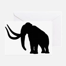 Big Black Mammoth Silhouette  Greeting Card