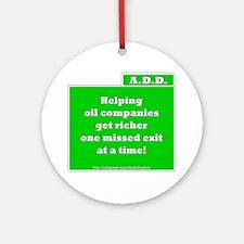 A.D.D. Exit Ornament (Round)