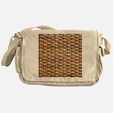 Woven Wicker Basket Messenger Bag