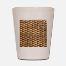 Woven Wicker Basket Shot Glass