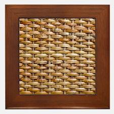 Woven Wicker Basket Framed Tile