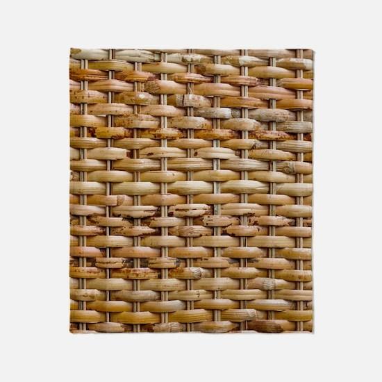 Woven Wicker Basket Throw Blanket