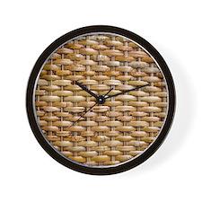 Woven Wicker Basket Wall Clock