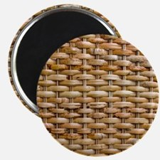 Woven Wicker Basket Magnet