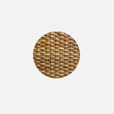 Woven Wicker Basket Mini Button