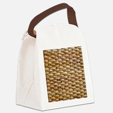 Woven Wicker Basket Canvas Lunch Bag