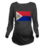 Sint Maarten.jpg Long Sleeve Maternity T-Shirt