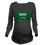 Saudi Arabia.jpg Long Sleeve Maternity T-Shirt