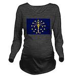 Indiana.jpg Long Sleeve Maternity T-Shirt