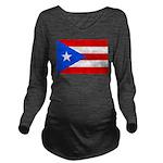 Puerto Rico.jpg Long Sleeve Maternity T-Shirt